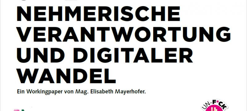 Neues Paper:Unternehmerische Verantwortung und Digitaler Wandel