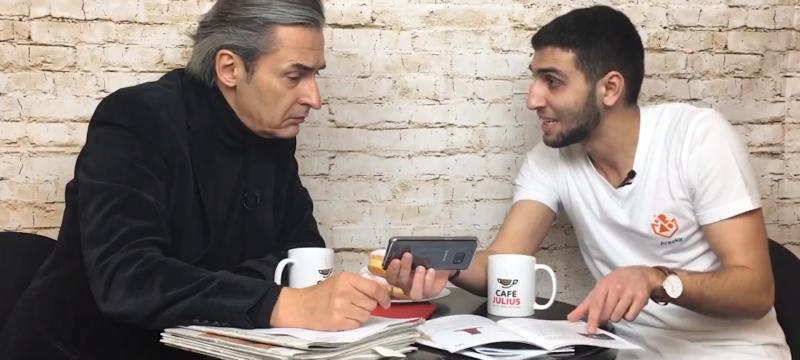 Café Julius mit Arkadi Jeghiazaryan   Februar 2018