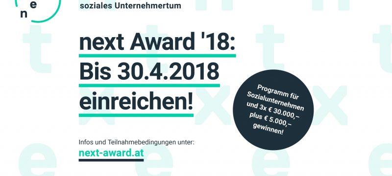 Next Award und Programm für soziales Unternehmertum