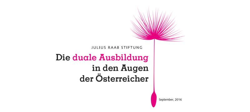 Studie: Die duale Ausbildung in den Augen der Österreicher
