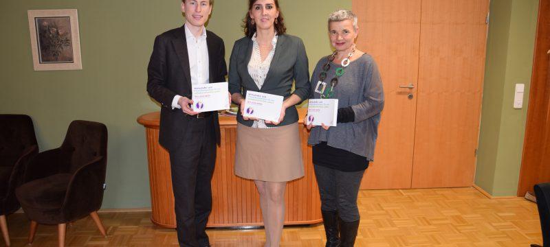 Arbeitsgespräch mit Bildungslandesrätin Maria Hutter in Salzburg zu Wirtschafts- und Finanzkompetenz